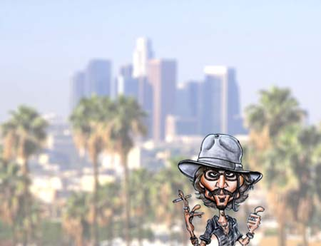 los angeles caricature artists for hire