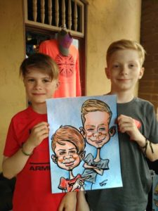 kids party entertainment caricatures