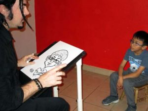 party caricatures for kids