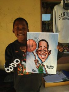 sport caricature for child